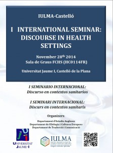 International Seminar Discourse in Health Settings