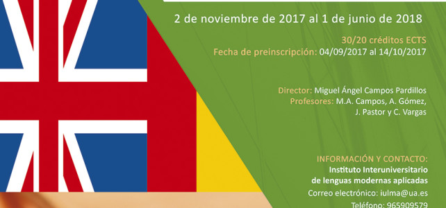 In-house Study Programme in Legal Translation English-Spanish. Year 2017-2018