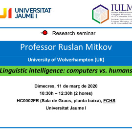 Linguistic intelligence: computers vs. humans