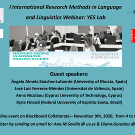 I International Research Methods in Language and Linguistics Webinar: YES Lab